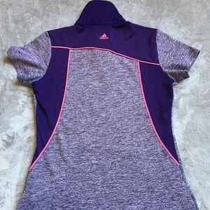 Adidas Purple/Grey Women's Polo Shirt Large